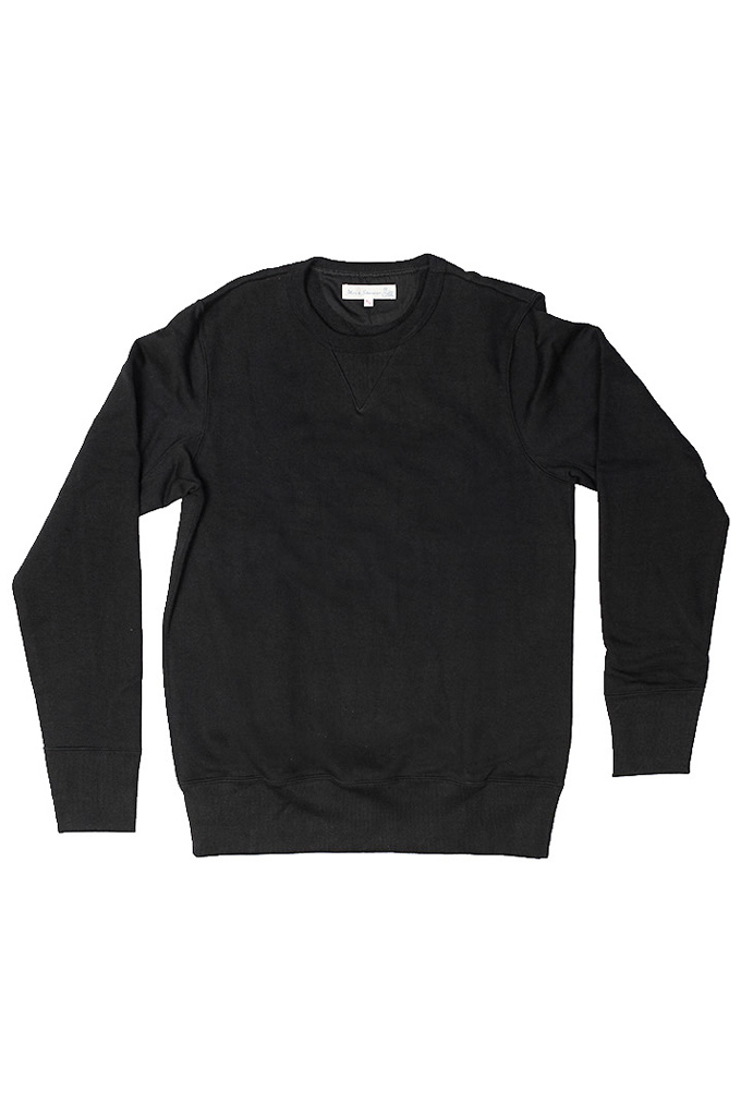 Merz B. Schwanen Heavy Weight Crewneck Sweater - Deep Black - Image 4