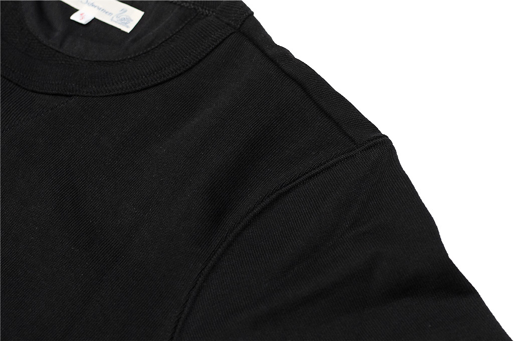 Merz B. Schwanen Heavy Weight Crewneck Sweater - Deep Black - Image 5