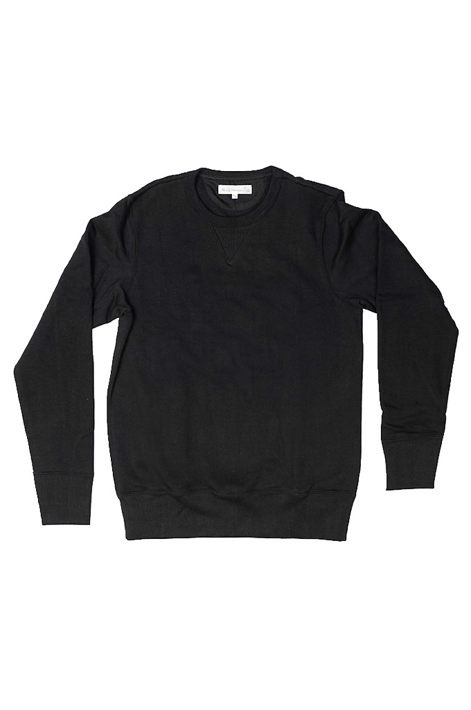 Merz B. Schwanen Heavy Weight Crewneck Sweater - Deep Black - Image 12