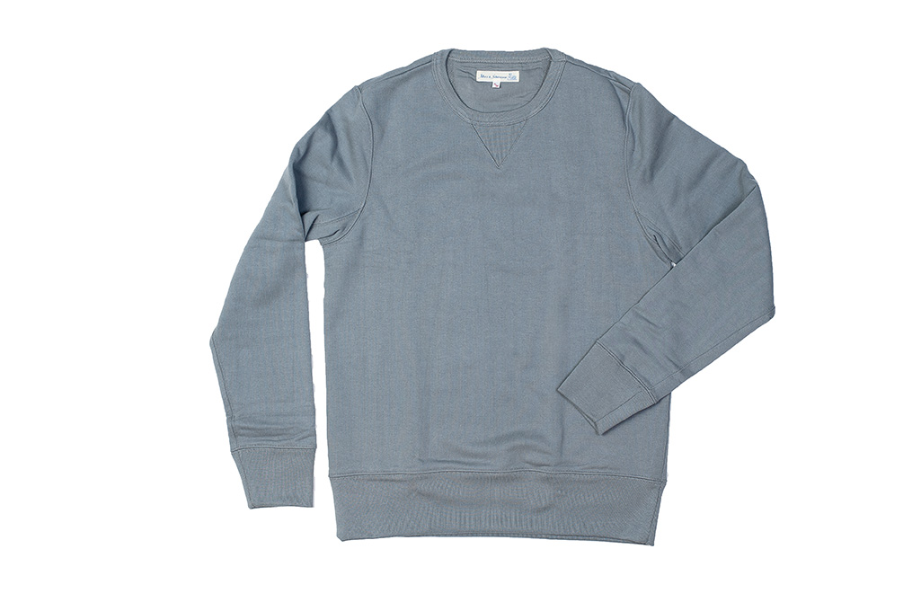 Merz B. Schwanen Heavy Weight Crewneck Sweater - Storm - Image 4