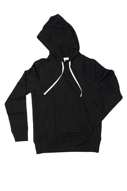 Merz B. Schwanen Heavy Weight Pullover Hoodie - Deep Black