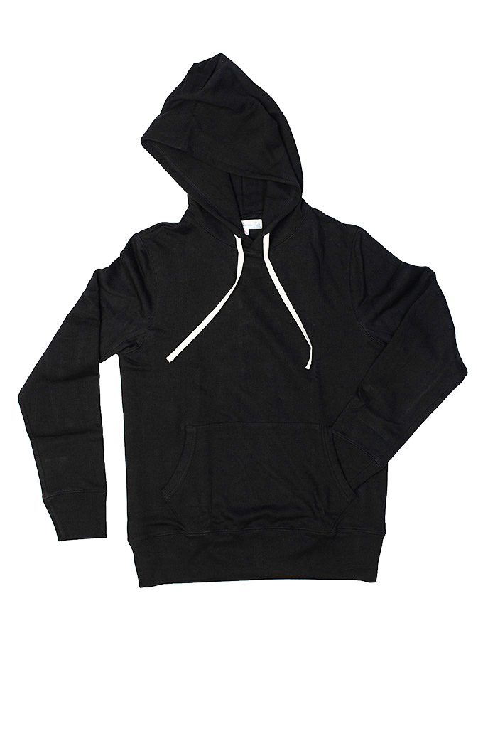 Merz B. Schwanen Heavy Weight Pullover Hoodie - Deep Black - Image 3