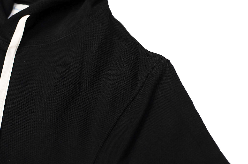Merz B. Schwanen Heavy Weight Pullover Hoodie - Deep Black - Image 5