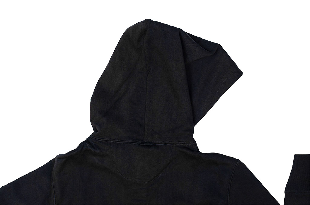 Merz B. Schwanen Heavy Weight Pullover Hoodie - Deep Black - Image 10