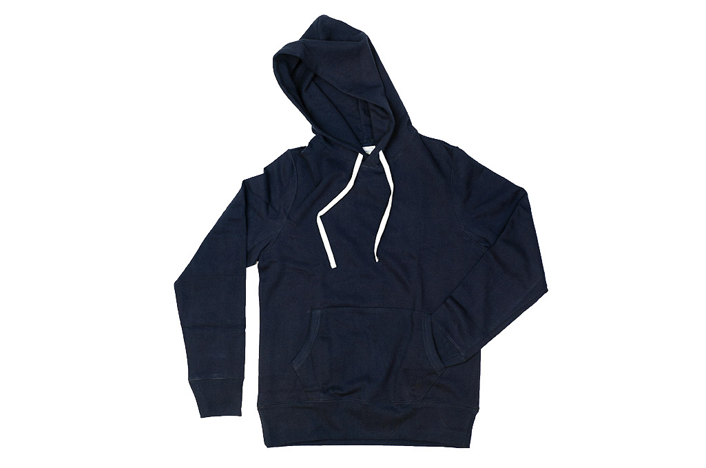 Merz B. Schwanen Heavy Weight Pullover Hoodie - Night Blue - Image 3
