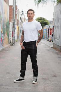Rick Owens DRKSHDW Duke Jeans - Made in Japan Black Waxed (Self Edge Exclusive) - Image 1