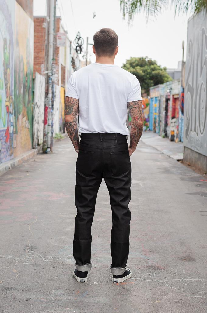 Rick Owens DRKSHDW Duke Jeans - Made in Japan Black Waxed (Self Edge Exclusive) - Image 3
