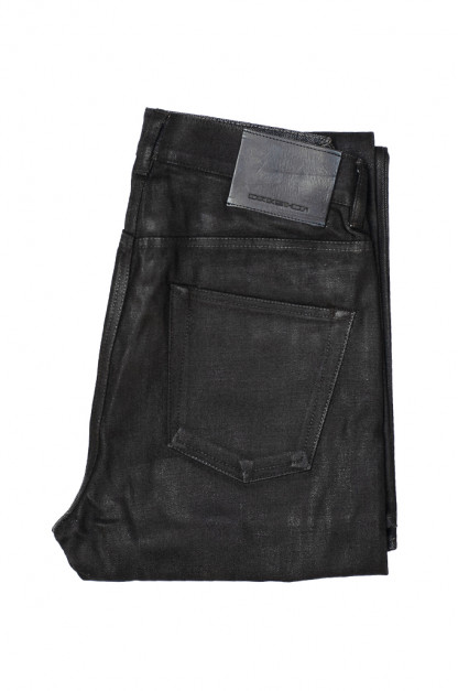 Rick Owens DRKSHDW Duke Jeans - Made in Japan Black Waxed (Self Edge Exclusive)