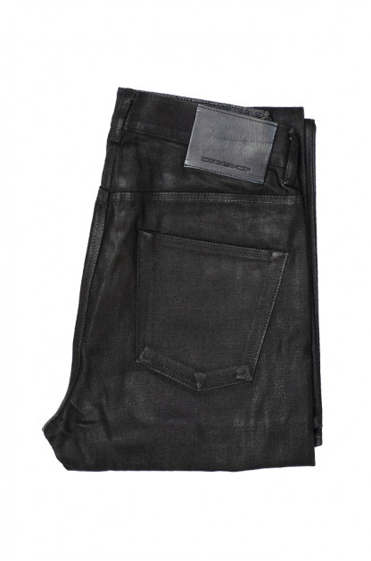 Rick Owens DRKSHDW Duke Jeans - Made in Japan Black Waxed (Self Edge Exclusive)