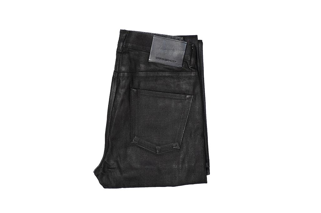 Rick Owens DRKSHDW Duke Jeans - Made in Japan Black Waxed (Self Edge Exclusive) - Image 5