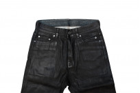 Rick Owens DRKSHDW Duke Jeans - Made in Japan Black Waxed (Self Edge Exclusive) - Image 6