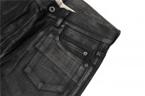 Rick Owens DRKSHDW Duke Jeans - Made in Japan Black Waxed (Self Edge Exclusive) - Image 7
