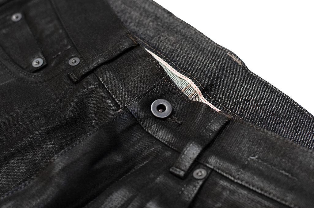 Rick Owens DRKSHDW Duke Jeans - Made in Japan Black Waxed (Self Edge Exclusive) - Image 8