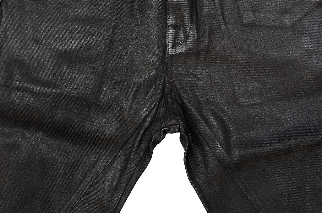 Rick Owens DRKSHDW Duke Jeans - Made in Japan Black Waxed (Self Edge Exclusive) - Image 9