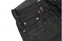 Rick Owens DRKSHDW Duke Jeans - Made in Japan Black Waxed (Self Edge Exclusive) - Image 10