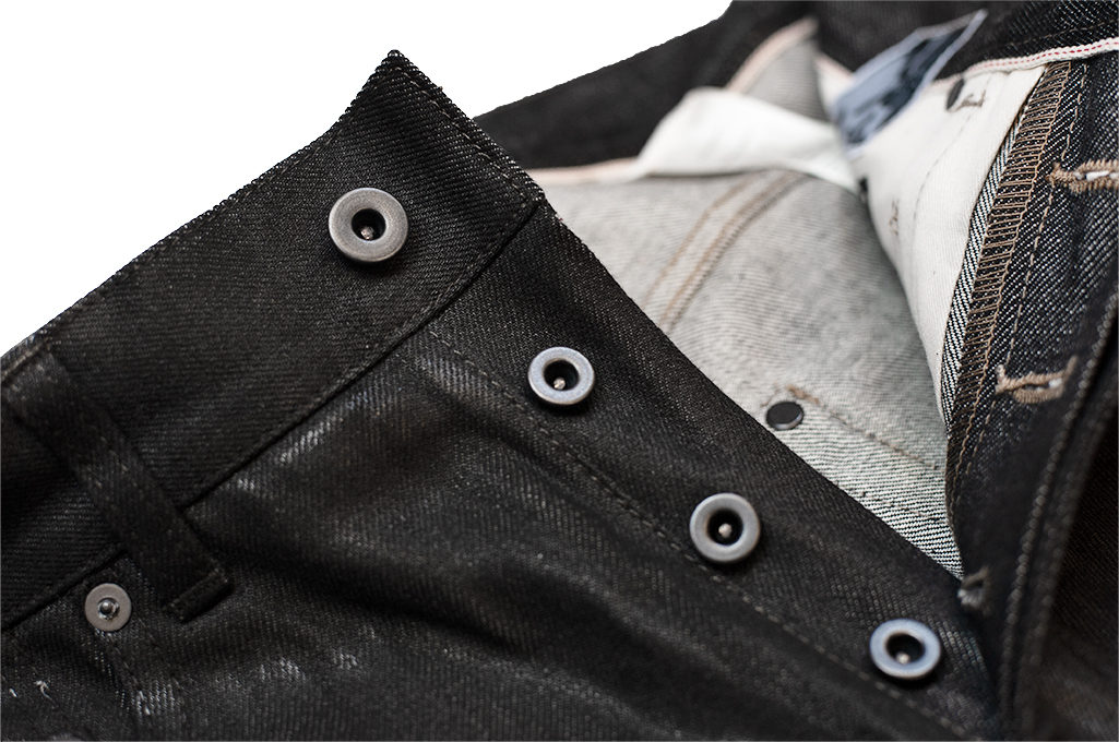 Rick Owens DRKSHDW Duke Jeans - Made in Japan Black Waxed (Self Edge Exclusive) - Image 11