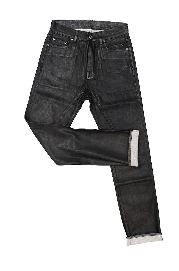 Rick Owens DRKSHDW Duke Jeans - Made in Japan Black Waxed (Self Edge Exclusive) - Image 12