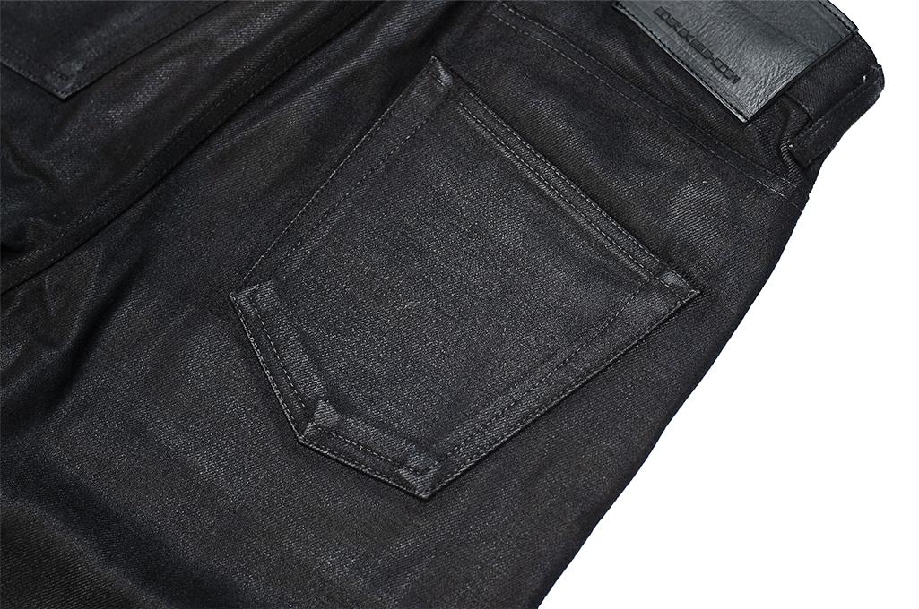 Rick Owens DRKSHDW Duke Jeans - Made in Japan Black Waxed (Self Edge Exclusive) - Image 14