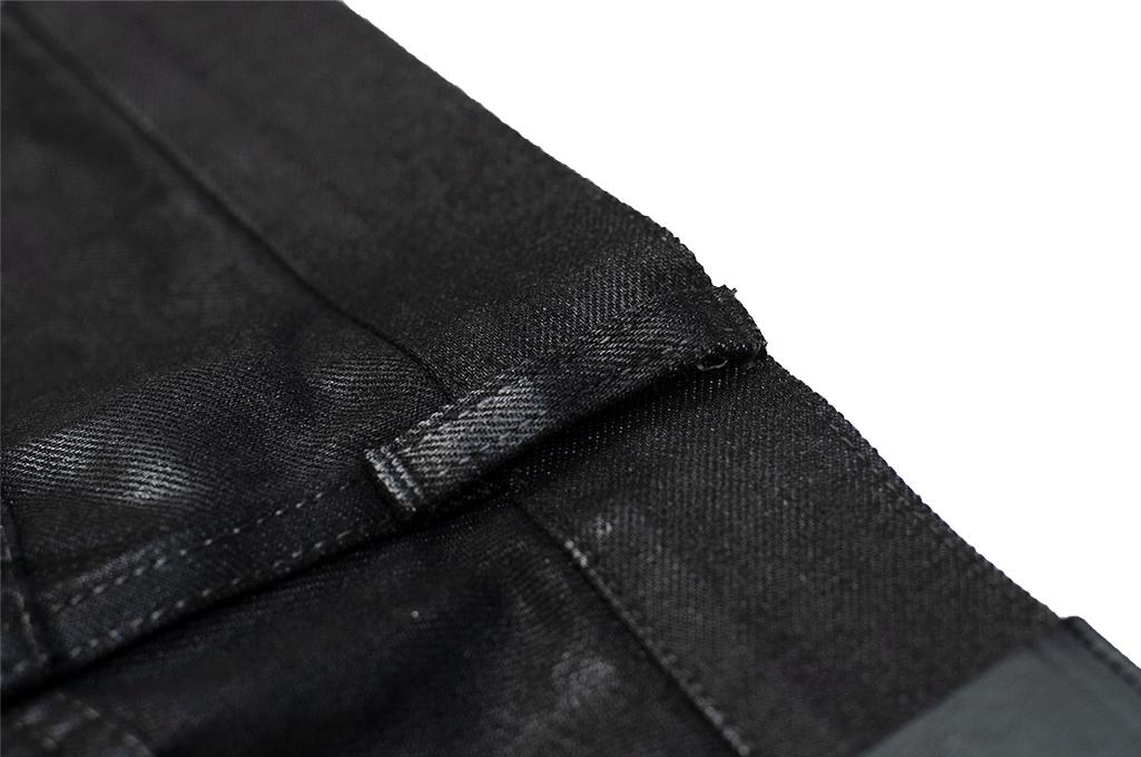 Rick Owens DRKSHDW Duke Jeans - Made in Japan Black Waxed (Self Edge Exclusive) - Image 16