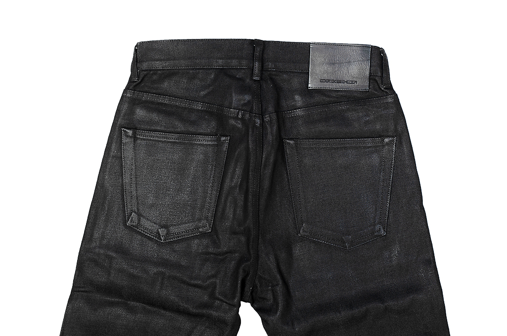 Rick Owens DRKSHDW Duke Jeans - Made in Japan Black Waxed (Self Edge Exclusive) - Image 17