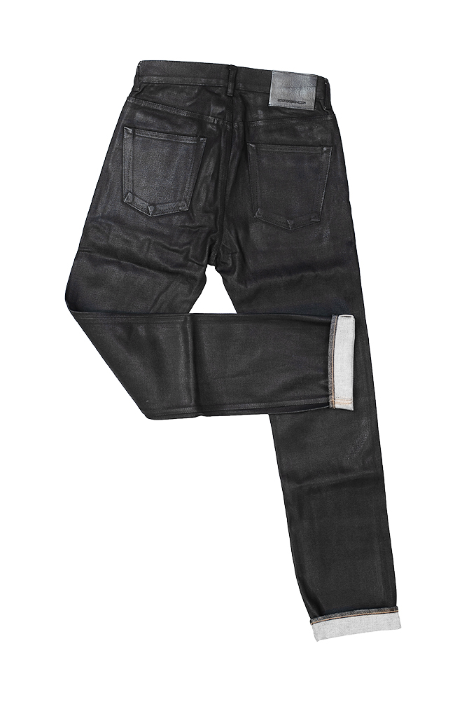 Rick Owens DRKSHDW Duke Jeans - Made in Japan Black Waxed (Self Edge Exclusive) - Image 18