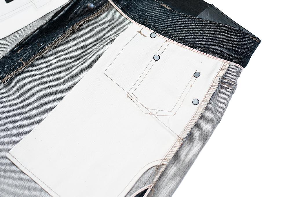Rick Owens DRKSHDW Duke Jeans - Made in Japan Black Waxed (Self Edge Exclusive) - Image 20