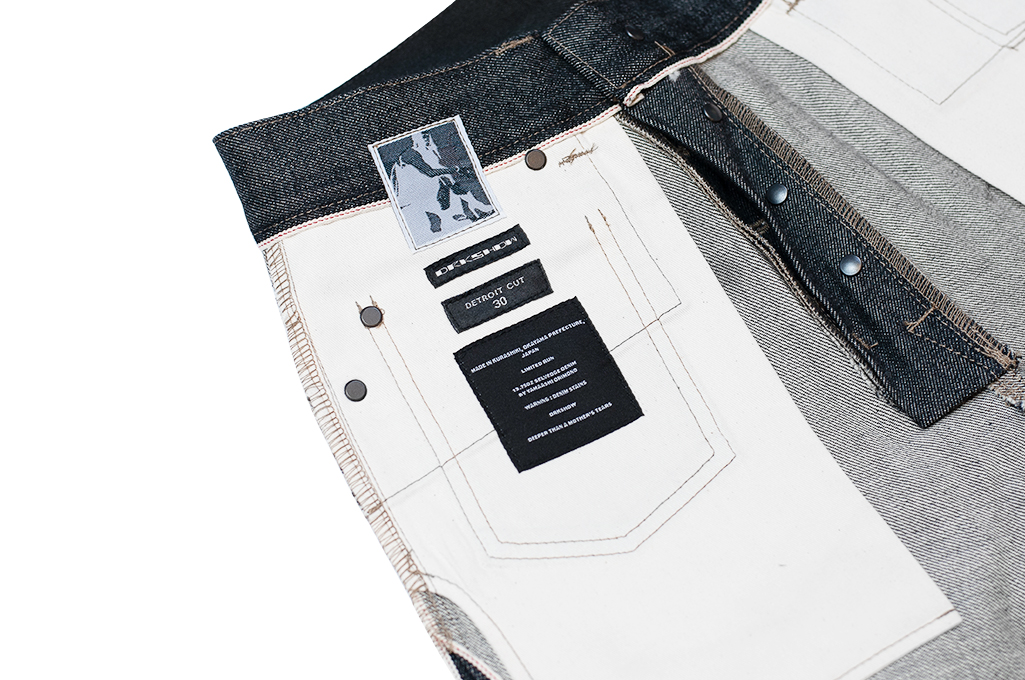 Rick Owens DRKSHDW Duke Jeans - Made in Japan Black Waxed (Self Edge Exclusive) - Image 21
