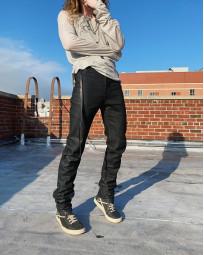 Rick Owens DRKSHDW Duke Jeans - Made in Japan Black Waxed (Self Edge Exclusive) - Image 23