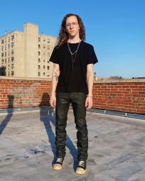 Rick Owens DRKSHDW Duke Jeans - Made in Japan Black Waxed (Self Edge Exclusive) - Image 24