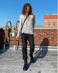 Rick Owens DRKSHDW Duke Jeans - Made in Japan Black Waxed (Self Edge Exclusive) - Image 27