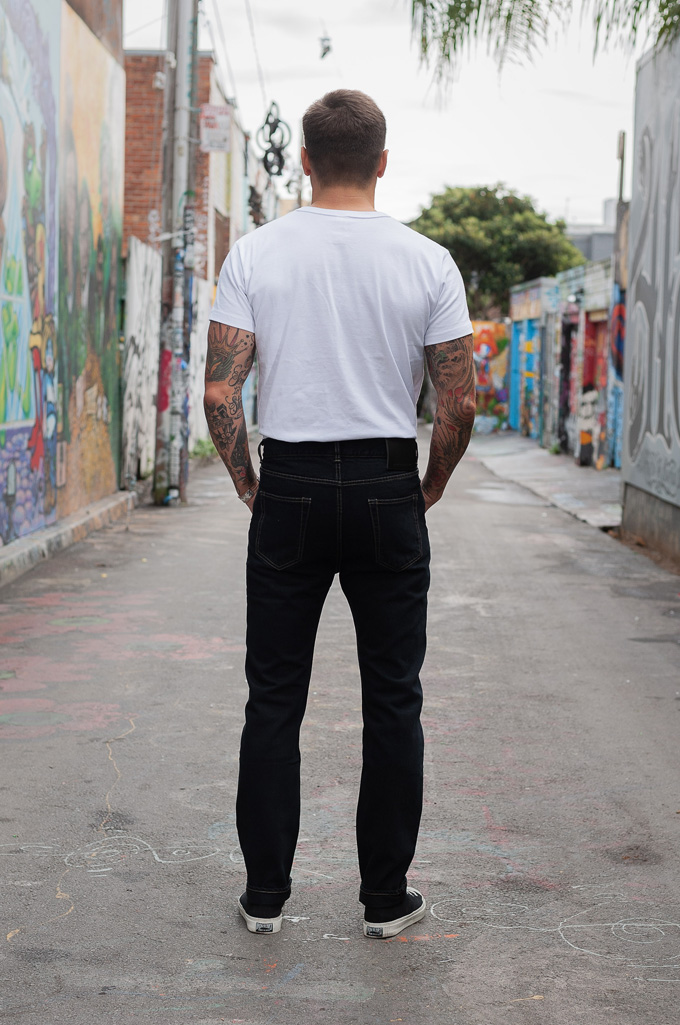 Rick Owens DRKSHDW Duke Jeans - Made in Japan Overdyed (Self Edge Exclusive) - Image 3