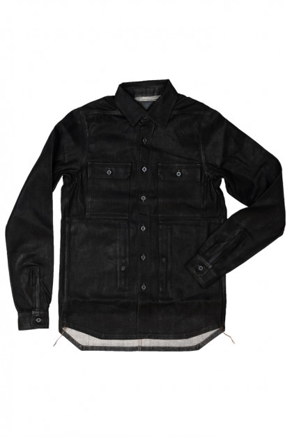 Rick Owens DRKSHDW Outershirt - Made in Japan Black Waxed (Self Edge Exclusive)