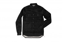 Rick Owens DRKSHDW Outershirt - Made in Japan Black Waxed (Self Edge Exclusive) - Image 1