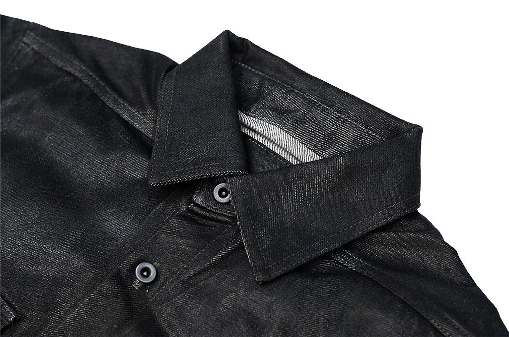 Rick Owens DRKSHDW Outershirt - Made in Japan Black Waxed (Self Edge Exclusive) - Image 3
