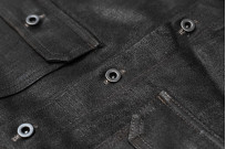 Rick Owens DRKSHDW Outershirt - Made in Japan Black Waxed (Self Edge Exclusive) - Image 4