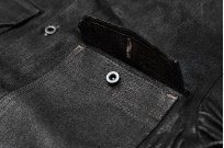 Rick Owens DRKSHDW Outershirt - Made in Japan Black Waxed (Self Edge Exclusive) - Image 5