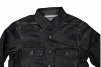 Rick Owens DRKSHDW Outershirt - Made in Japan Black Waxed (Self Edge Exclusive) - Image 6