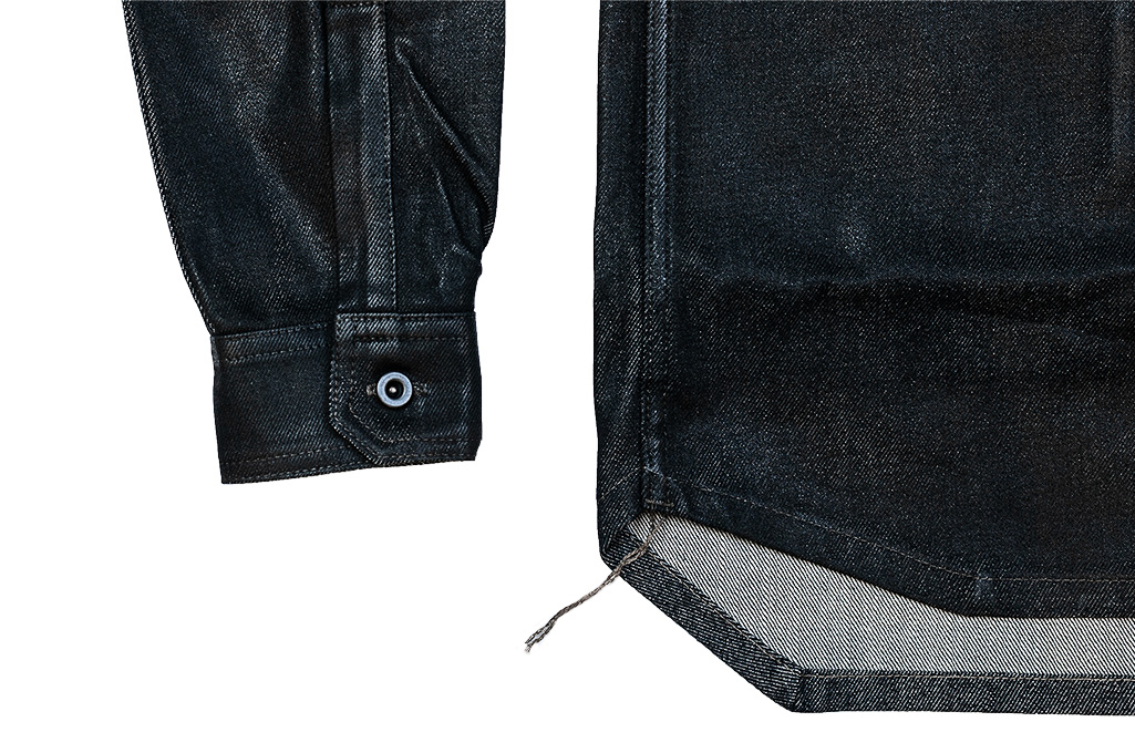 Rick Owens DRKSHDW Outershirt - Made in Japan Black Waxed (Self Edge Exclusive) - Image 8