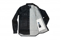 Rick Owens DRKSHDW Outershirt - Made in Japan Black Waxed (Self Edge Exclusive) - Image 10