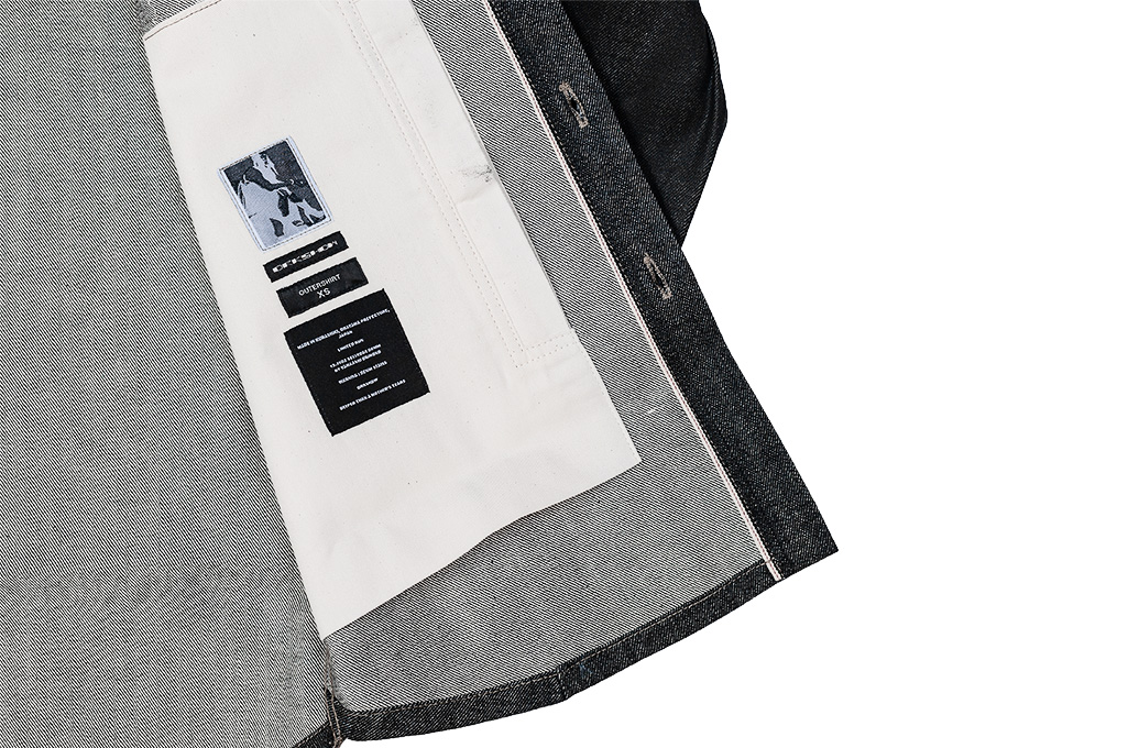 Rick Owens DRKSHDW Outershirt - Made in Japan Black Waxed (Self Edge Exclusive) - Image 11