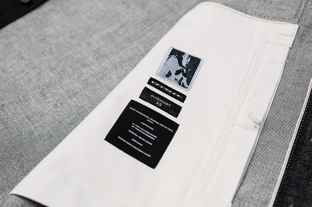 Rick Owens DRKSHDW Outershirt - Made in Japan Black Waxed (Self Edge Exclusive) - Image 12