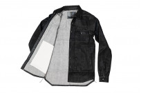 Rick Owens DRKSHDW Outershirt - Made in Japan Black Waxed (Self Edge Exclusive) - Image 14