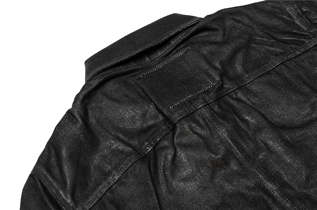 Rick Owens DRKSHDW Outershirt - Made in Japan Black Waxed (Self Edge Exclusive) - Image 18