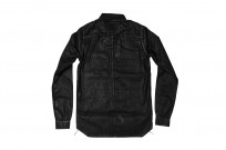 Rick Owens DRKSHDW Outershirt - Made in Japan Black Waxed (Self Edge Exclusive) - Image 19