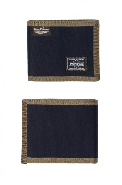 Buzz Rickson x Porter Wallet - Jungle Cloth Navy