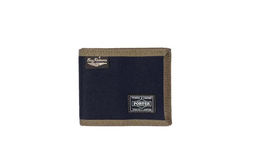 Buzz Rickson x Porter Wallet - Jungle Cloth Navy - Image 1