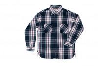 Sugar Cane Twill Check Flannel Shirt - Sine Wave Black - Image 1