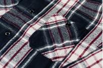 Sugar Cane Twill Check Flannel Shirt - Sine Wave Black - Image 2