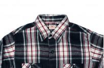 Sugar Cane Twill Check Flannel Shirt - Sine Wave Black - Image 3
