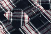 Sugar Cane Twill Check Flannel Shirt - Sine Wave Black - Image 4